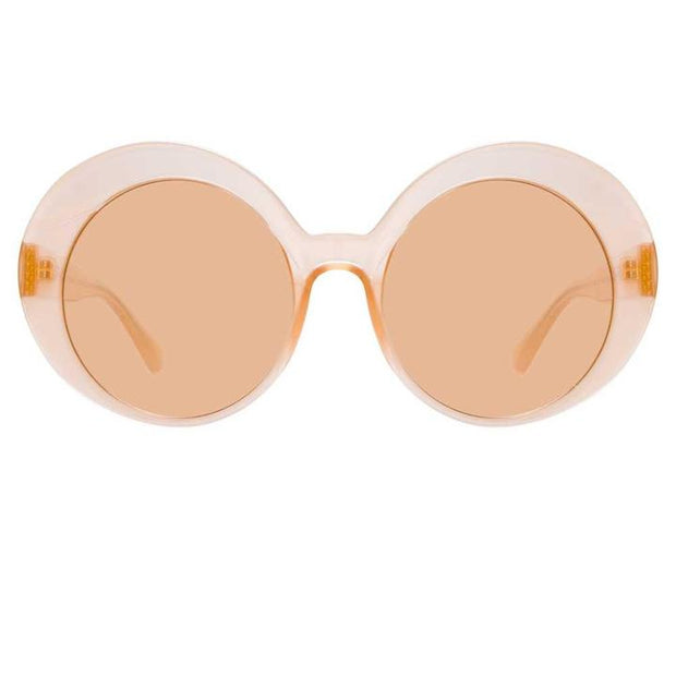 844 C3 Oversized Sunglasses in Peach Frame