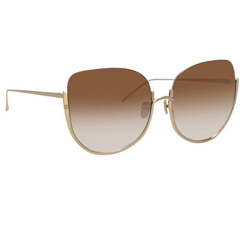 847 C6 Oversized Sunglasses in Light Gold Frame