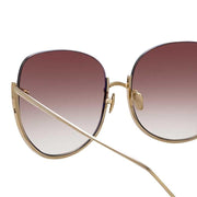 847 C6 Oversized Sunglasses in Light Gold Frame - The Edition Shop