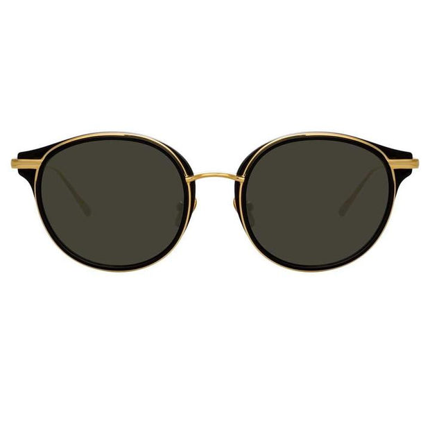 911 C1 D-Frame Sunglasses in Black Frame