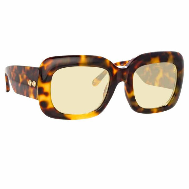 Lavinia C1 Rectangular Sunglasses in Tortoise Frame - The Edition Shop