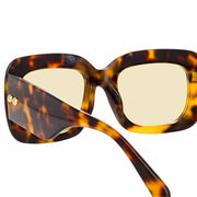 Lavinia C1 Rectangular Sunglasses in Tortoise Frame