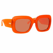 Lavinia C1 Rectangular Sunglasses in Orange Frame - The Edition Shop