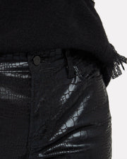Le High Skinny in Croc Noir - The Edition Shop