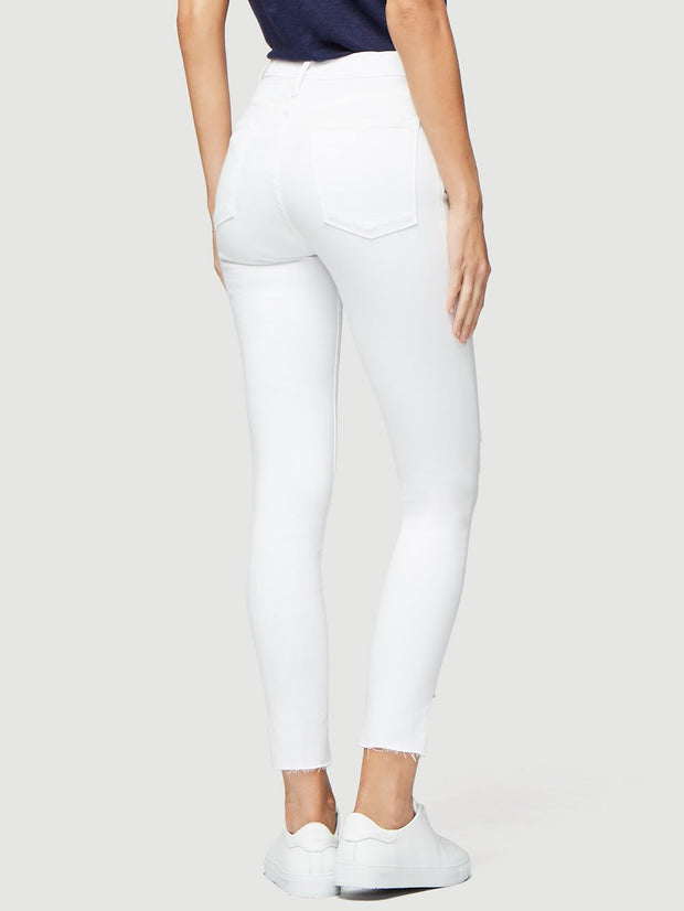 Le High Skinny Crop Slit Rivet in Blanc Transit - The Edition Shop