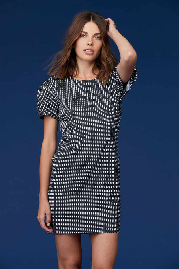 Alaina Dress in Checker Print