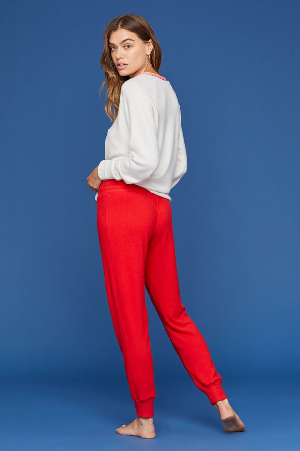 Brushed Jogger Sweat in Fiery Red