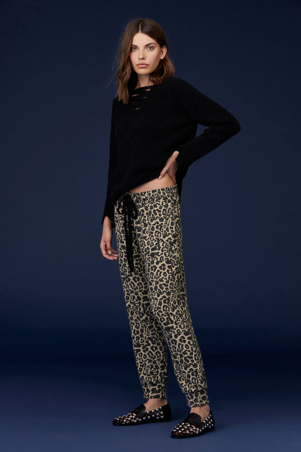Brushed Pant in Leopard Print