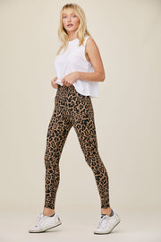 Zipper Legging in Leopard Print