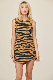 Muscle Tank Dress in Tiger