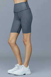 Cher Biker Short in Checker Print