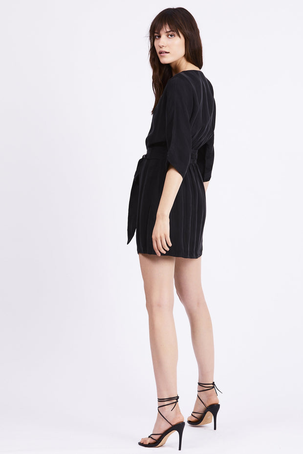 Looped in Batwing Dress - Black