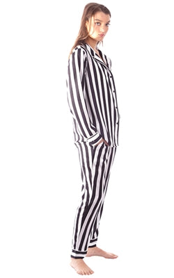 Lounge Pants in Black Stripe