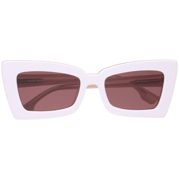 Zaap! Sunglasses in White with Rose Lens