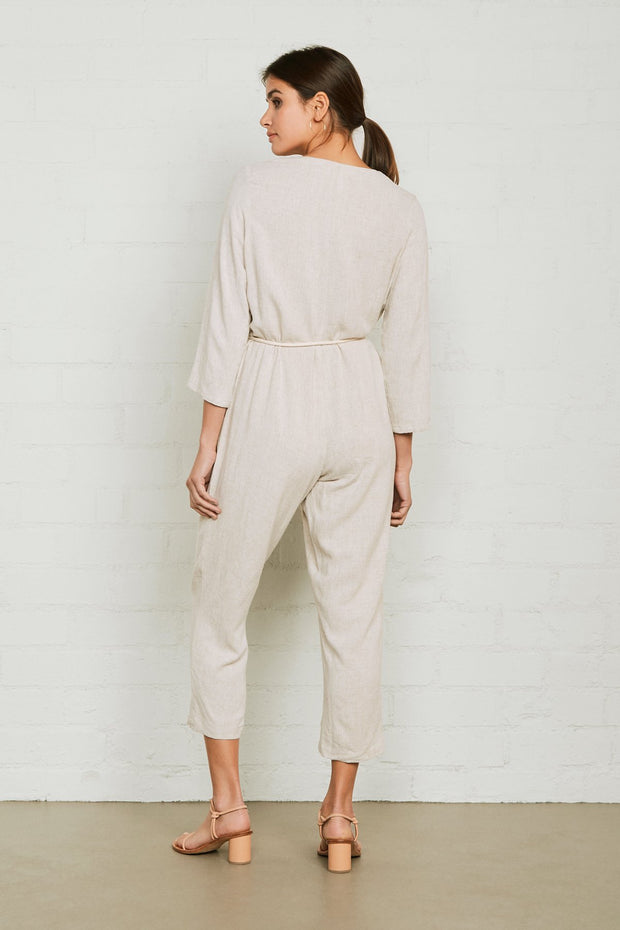 Linen Troy Jumpsuit - The Edition Shop