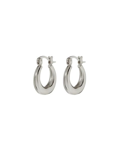 Mini Martina Hoops - Silver