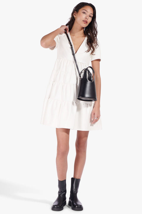 Mini Cocoon Faux Leather Dress