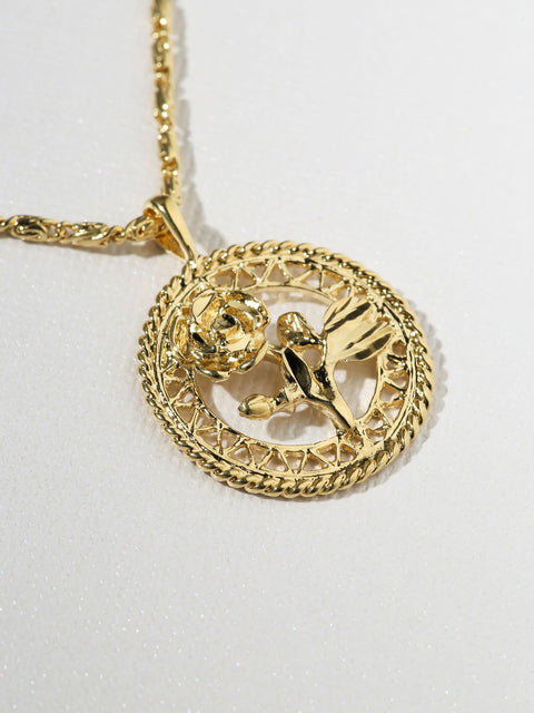 The Gold Rossa Charm Necklace