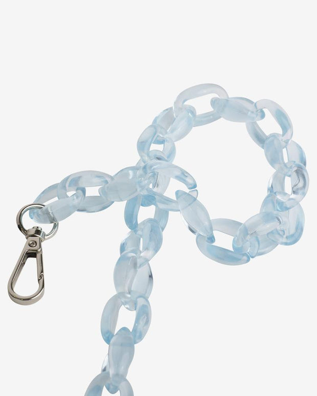 Oval Chain Handle in Crystal Blue