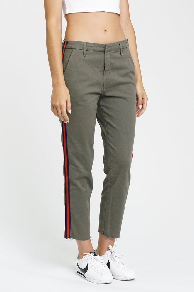 Luci High Rise Cropped Chino in Trenches