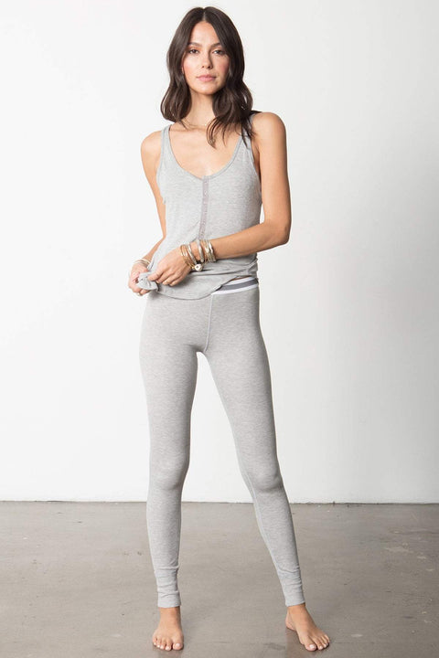 The High Waist Slumber Pant in Heather