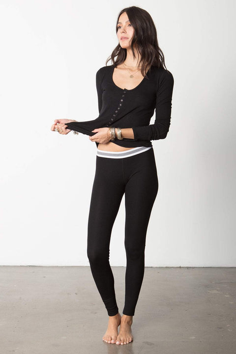 The High Waist Slumber Pant in Black