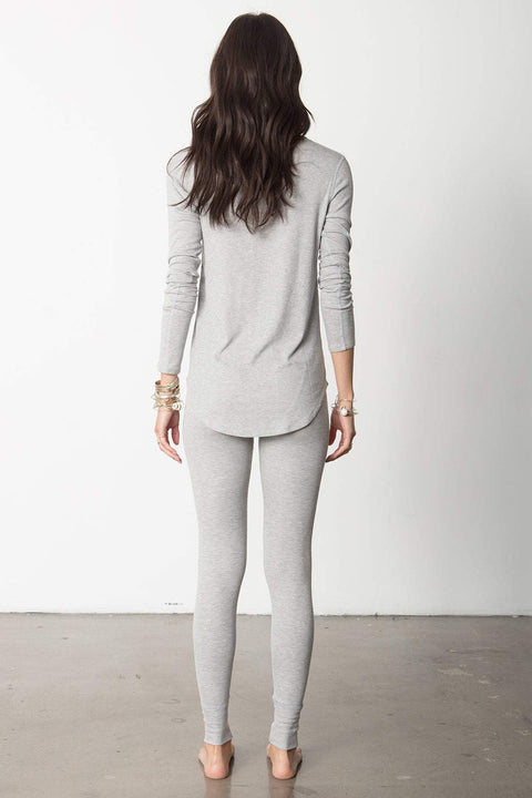 Easyfit Snap Long Sleeve Henley in Heather