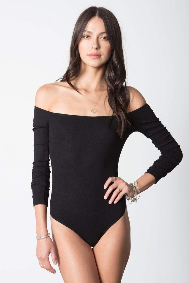 Costa Off The Shoulder Bodysuit in Black