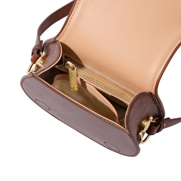 Ellea Mini Saddle in Vintage Tan