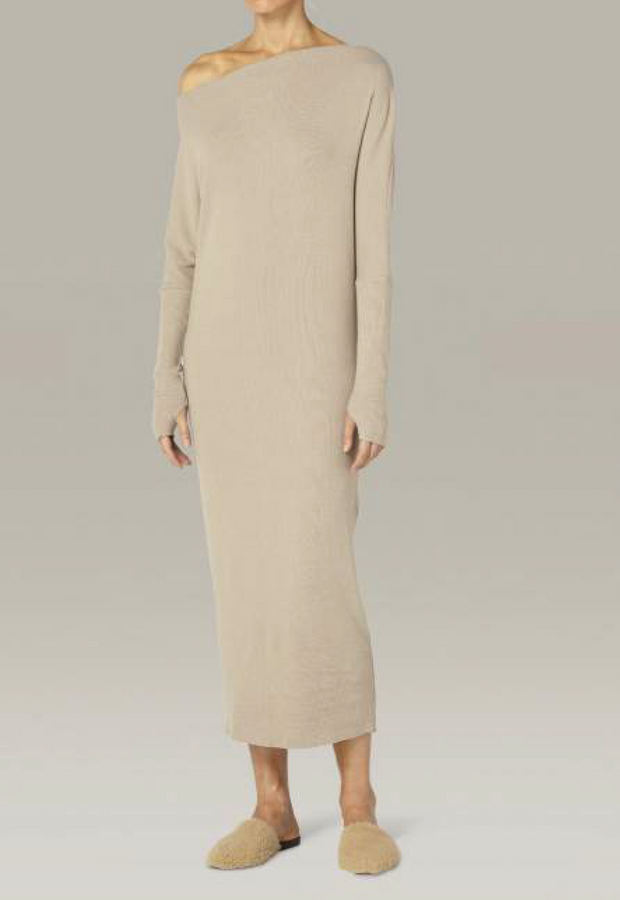 Sweater Knit Slouch Dress