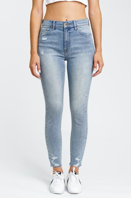 Aline High Rise Skinny Jean in Weaver