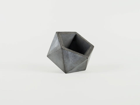 Asymmetrical Vessel in Charcoal - The Edition Shop