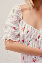 Tarte Eyelet Smocked Dress