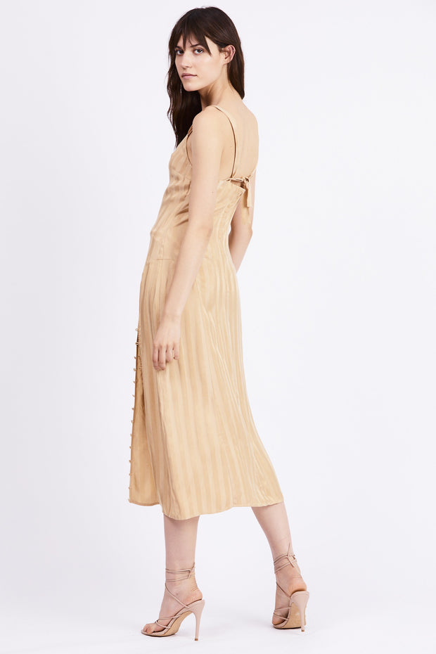 Looped in Slip Dress - Tan - The Edition Shop