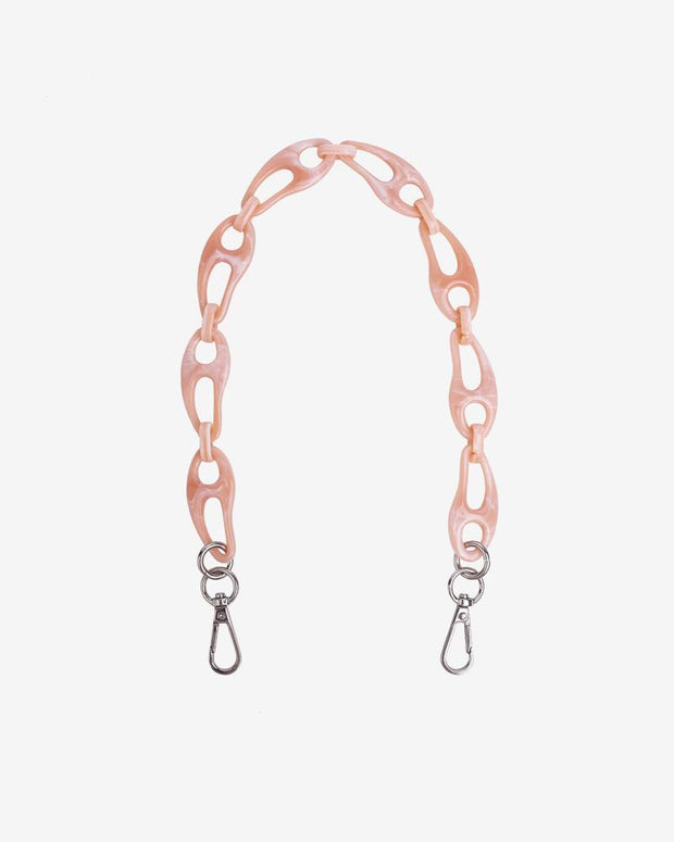 Wavy Chain Handle in Soft Pink