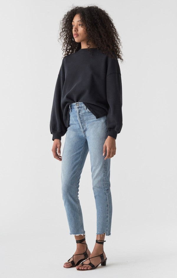 Riley High Rise Straight Crop Jean in Zephyr - The Edition Shop