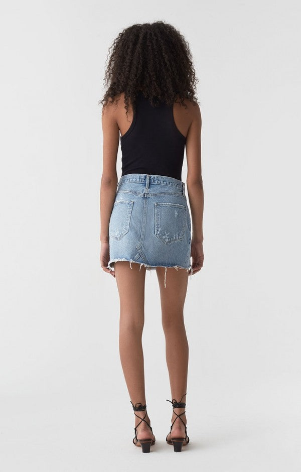 Quinn Hi Rise Mini Skirt in Swapmeet