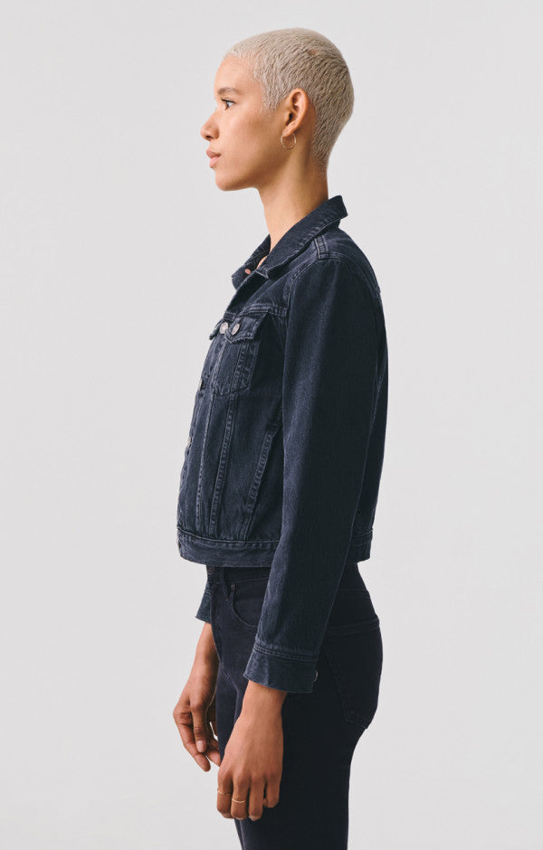 Vivian Shrunken Denim Jacket in Seance - The Edition Shop
