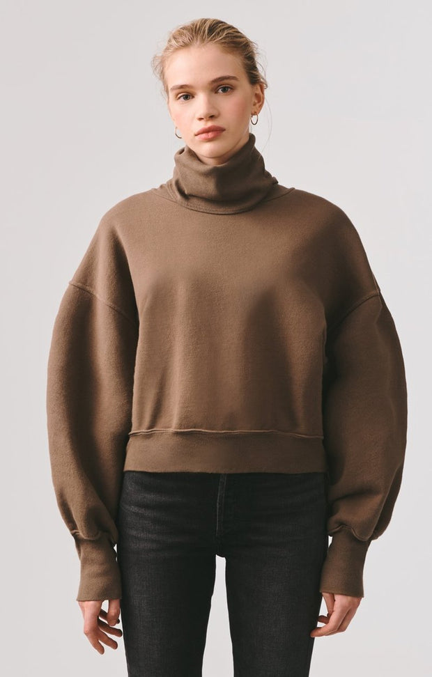 Balloon Sleeve Turtleneck Sweatshirt - The Edition Shop