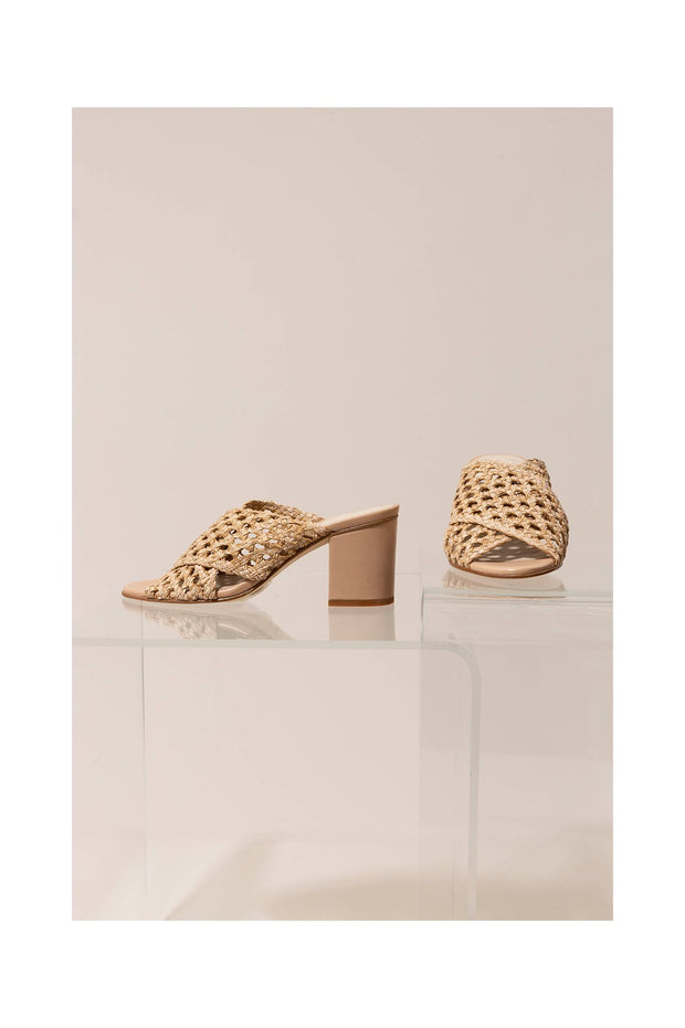 Agatha Braided Sandal in Beige - The Edition Shop