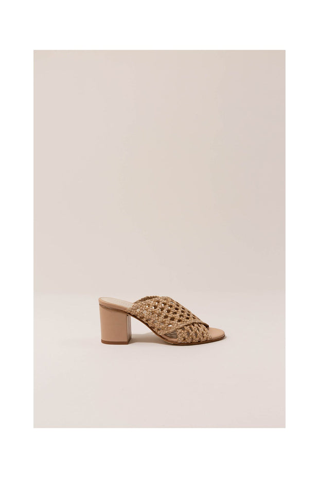 Agatha Braided Sandal in Beige