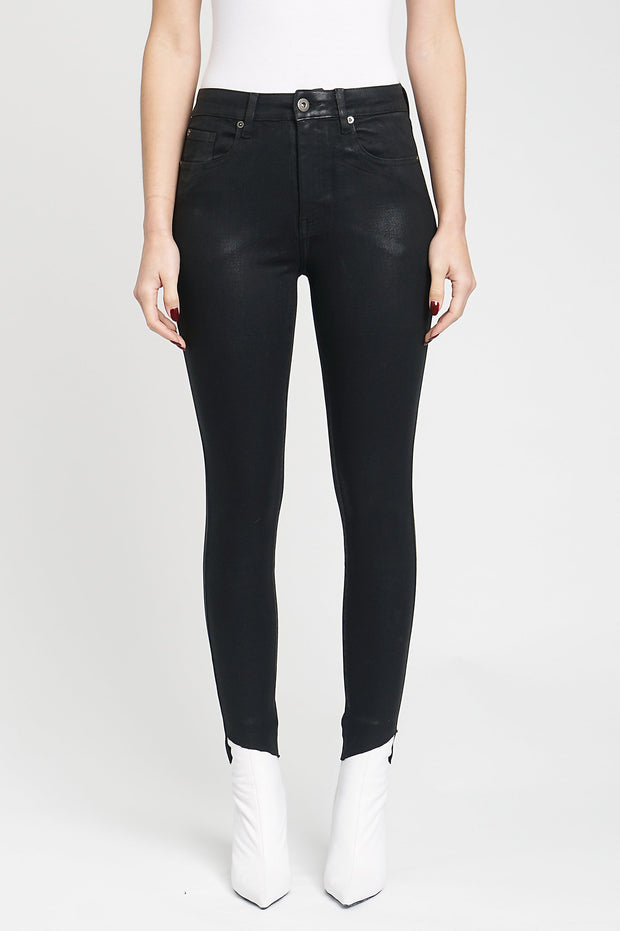 Aline High Rise Skinny in Coated Onyx - The Edition Shop