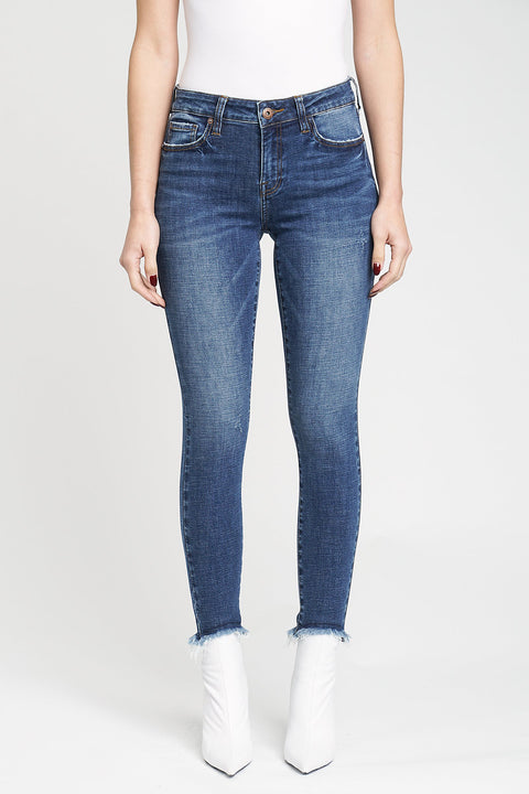 Audrey Mid Rise Skinny in London Mist