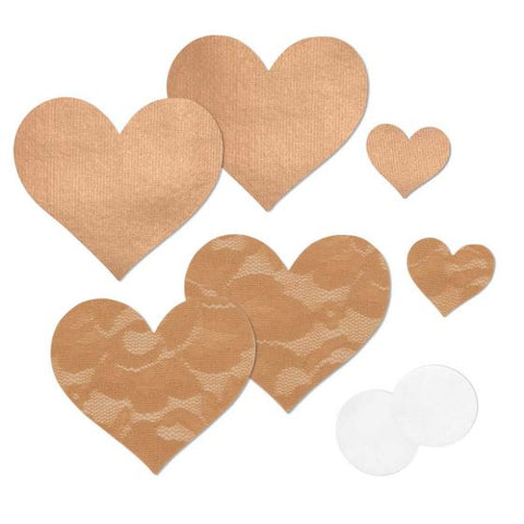 Heart Pasties in Caramel 2 Pack