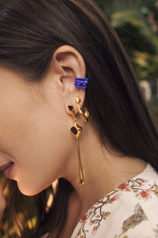 Failé 3D Magnet Ear Cuff in Sunset Orange