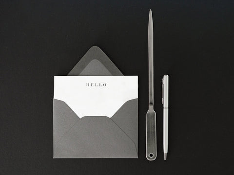 Ultra-Thick Flat Note Card in Hello - The Edition Shop