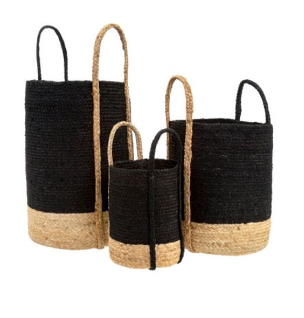 Gibson Jute Basket S/3 Grey