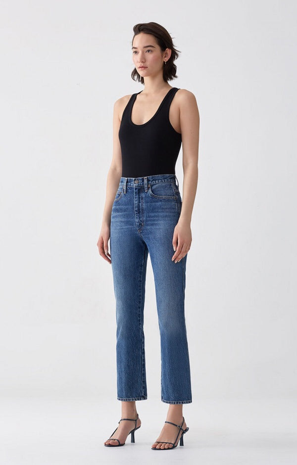 Pinch Waist High Rise Kick Jean in Placebo