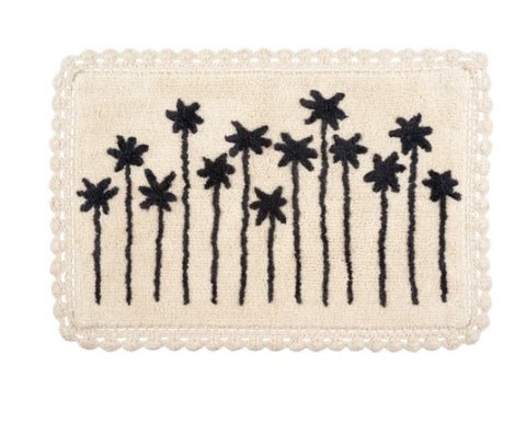 Palm View Crochet Bath Mat