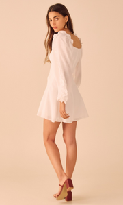 Perfect Party Mini Dress in White